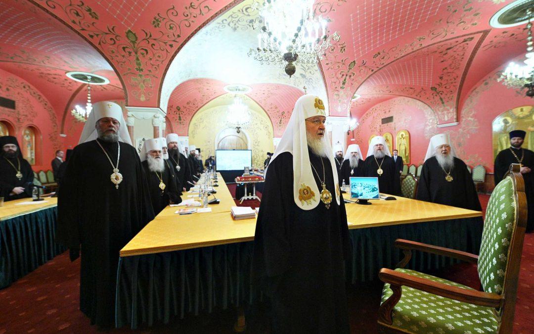 Управляющий Патриаршими приходами в США епископ Сурожский Матфей принял участие в совместном заседании Священного Синода и Высшего Церковного Совета