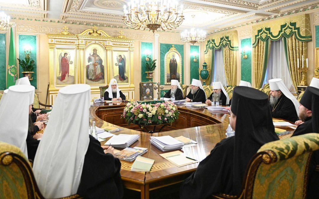 Епископ Сурожский Матфей принял участие в последнем в уходящем году заседании Священного Синода