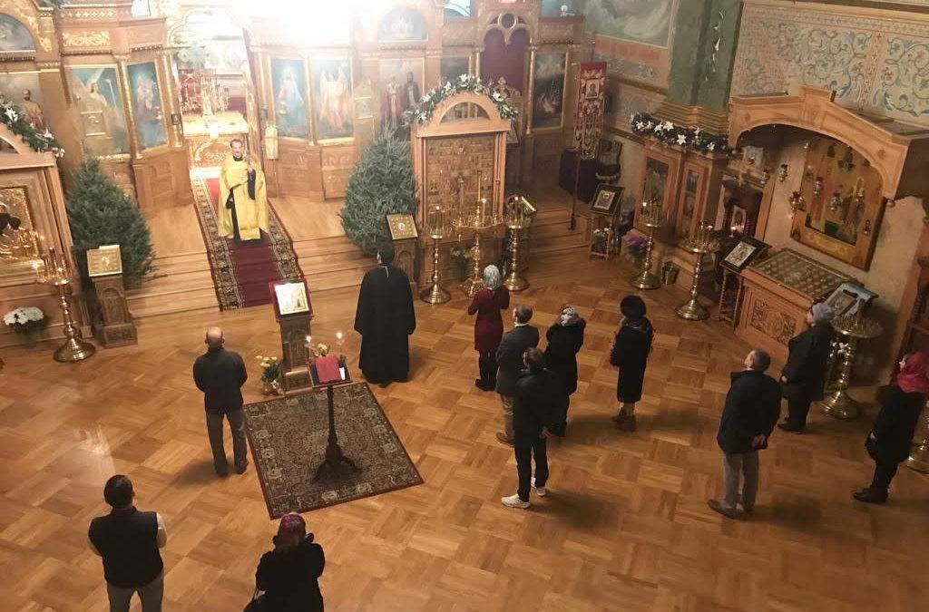 В канун гражданского новолетия в Патриаршем соборе Нью-Йорка было совершено молебное пение