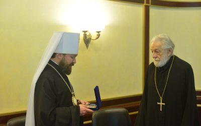 Митрополит Волоколамский Иларион выразил соболезнования в связи с кончиной одного из старейших клириков Православной Церкви в Америке протопресвитера Даниила Губяка