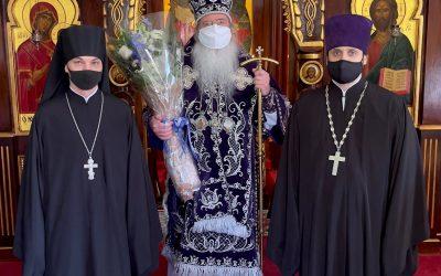 Духовенство Представительства Московского Патриархата в США поздравило Предстоятеля Православной Церкви в Америке с годовщиной монашеского пострига